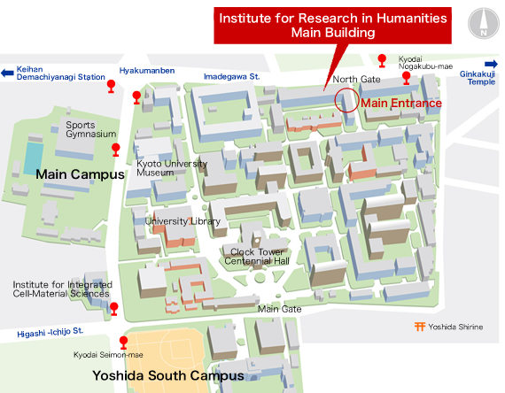 Site Map of the Main Building (New Building)