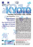 Kyoto Lecture 2014「Survivors: Hiroshima, the Holocaust and the Rise of Global Memory Culture」